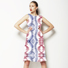 Painted Brushstroke Bohemian Ethnic Ikat (Dress)