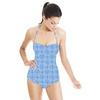Aqua Blurred Geometrics (Swimsuit)