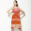 Bandana Red Border (Dress)