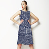Floral Indigo Tile (Dress)