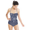 Floral Indigo Tile (Swimsuit)