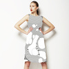 Abstract Line Print (Dress)