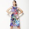 Daisy Colorful Flowers in Multicolor. (Dress)