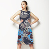 Dark Blue Winter Floral (Dress)