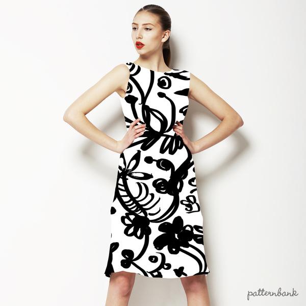 Black Floral Lace Print