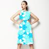 Turq Floral Motif (Dress)