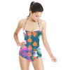 Graphic Ogees and Roses (Swimsuit)