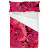Floral Linear Daisies Magenta (Bed)