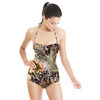 Leopard Skins With Gold Flower (Swimsuit)