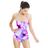Pink and Blue Painted Flowers (Swimsuit)
