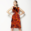 Orange Floral Mix (Dress)