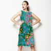 Illustrated Abstract Turq (Dress)