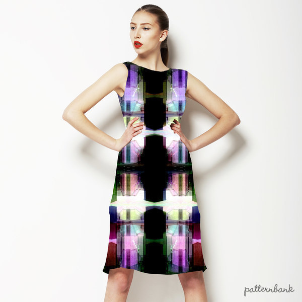 Pixellation Carousel Tendons Catch Stained Glass Light