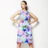Watercolor Floral Cascade (Dress)