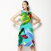 Pastel Abstract Turq (Dress)