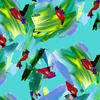 Pastel Abstract Turq (Original)