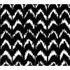 Scribbly ZigZag Chevron Repeat Pattern in Black & White (Original)