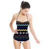 African Geometric Stripe (Swimsuit)