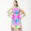 Faded Neons Tropical Print (Dress)