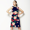 Dark Grounded Watercolor Floral (Dress)