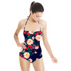 Dark Grounded Watercolor Floral (Swimsuit)