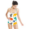 Colorful & Cheerful Elephant Pattern (Swimsuit)