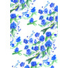 Hand Painted Blue Bird and Flower Blossom (Original)