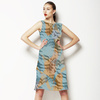 Seamless Geometric Camouflage Abstrac Textile (Dress)