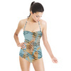 Seamless Geometric Camouflage Abstrac Textile (Swimsuit)