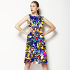 Seamless Abstract Colorful Inspired Handmade Floral Textile (Dress)