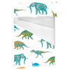 Dinosaurs and Mammoth Seamless Pattern (Bed)