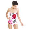 Hand Painted Watercolor Roses (Swimsuit)