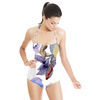 Hand Drawn Watercolor Irises Seamless Pattern (Swimsuit)