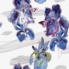 Irises Seamless Pattern (Original)