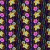 Happy Floral Stripe (Original)