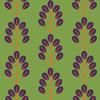 Bold Branch Design on Woodland Green (Original)
