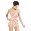 Pink Floral Daisy, All Over, Scattered Design (Swimsuit)