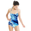 Marbling Paper Pattern Navy (Swimsuit)