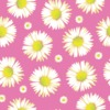 Pink Base Daisy Vector Repeat Print (Original)