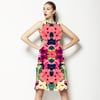 Tropical Leaves and Floral Repeat Print (Dress)
