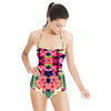 Tropical Leaves and Floral Repeat Print (Swimsuit)