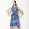 Floral Flower Collage Blue Purple (Dress)