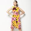 Flower Collage Maroon (Dress)