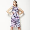 Animal Skins: Multi-Colour Zebra Overlaid on Feathers (Dress)