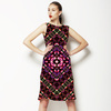 Mysterious Florals No2 Floral Pattern Inspired by Folk Art and Geometric Shape (Dress)