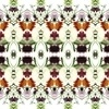 Flower Painted Repeat Print Colorful Pattern (Original)