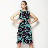 Square Labyrinth in Blue and Purple (Dress)