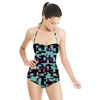 Square Labyrinth in Blue and Purple (Swimsuit)