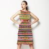 Exotic Floral Stripes (Dress)