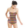 Exotic Floral Stripes (Swimsuit)